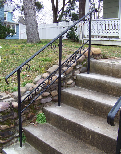 Wrought Iron Railings Pipe Railing South Jersey Custom Hand Crafted
