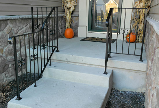 Beautiful Wrought Iron Railing With Handicapped Extension