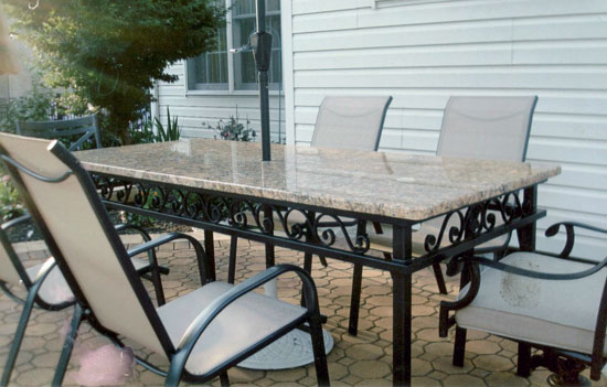 Wrought Iron Tables Chairs South Jersey Custom HandCrafted - Custom dining room table and chairs