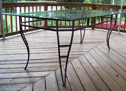 Wrought Iron Dining Room Table With Glass Top