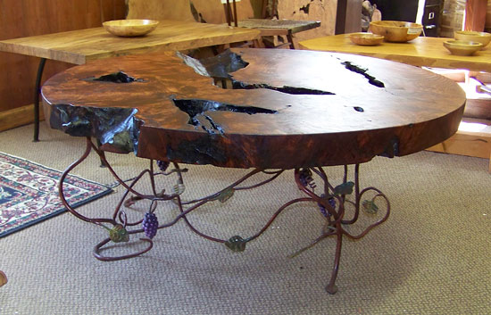 Wrought Iron Tables Chairs South Jersey Custom HandCrafted - Grapevine coffee table